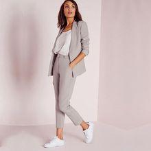 Light Gray Womens Business Suits Female Office Uniform Ladies Trouser Suits  Formal Womens Tuxedo Pants 2 c0f655164bea