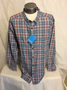 Columbia Men's  Long sleeve Out And Back ll Shirt Size 2XL New With Tags #Columbia #ButtonFront