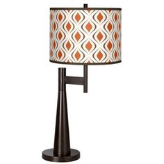 Retro Lattice Giclee Novo Table Lamp - #5D113-5V593   LampsPlus.com