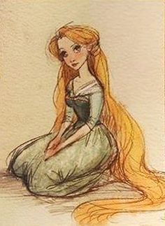 Claire Keane Tangled concept art:
