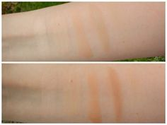 These two arm swatches show the difference between freshly applied concealer, and the same concealer after it's sat on skin for five minutes. Waiting to blend means your concealer will go further and cover more without multiple layers. Read more about it here.