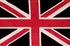Tapis nacryl tufté main UK navy 110x170