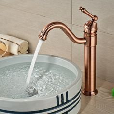 Wholesale And Retail Red Bronze Bathroom Basin Faucet Swivel Spout Vanity  Sink Mixer Tap Single Handle