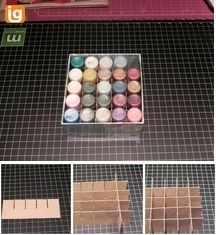 This is an awesome and inexpensive way to store Stickles as well as transport them!  I love it!