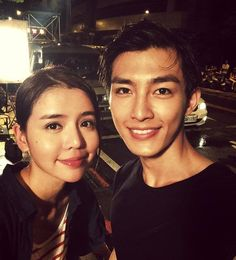 Aaron & Tia on the set of Fall in Love with Me Drama Songs, Drama Movies, Taiwan, Danson Tang, Refresh Man, Romantic Princess, Aaron Yan, Perfect Smile, Korean Actors
