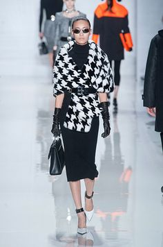 Michael Kors woven into the fabric and made on the computer. geometric print