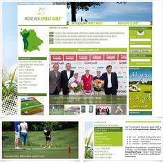 Internetseite Golfportal muenchen-spielt-golf.de / Leistungen: Konzeption, Webdesign, Technische Umsetzung / Techniken: TYPO3, PHP, Javascript, mootools, XHTML, CSS, Geolocation