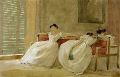 Philip Hermogenes Calderon ~ The Siesta, 1866 ~ (English: 1833-1898)