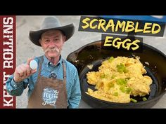 Do your scrambled eggs or omelets need a boost in flavor? Do you need to add a little yahoo to your yolks? Here are some tips for fluffy, flavorful eggs Egg Recipes For Breakfast, Breakfast Bites, Brunch Recipes, Summer Recipes, Second Breakfast, New Cooking, Cast Iron Cooking, Cooking Videos, Kent Rollins