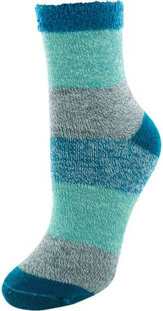 CREW Aqua Blue NWT Women's J Heathered Turquoise CAMP SOCKS Cozy COTTON BLEND