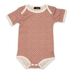 MilkBarn One Piece Onesie Pink with White Dots