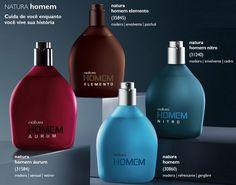 A linha Natura Homem foi lançada em 1996 e, ao longo dos anos, passou por um grande desenvolvimento, tornando-se uma linha completa de cuidados pessoais para o homem, que inclui produtos para perfumação, rosto, corpo e cabelos.