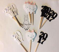 Cupcake Toppers set of 12-2017-Dentist-Graduation Party Detal