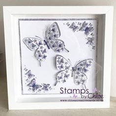 Dies by Chloe - Butterfly Corners - - Dies By Chloe Butterfly Corners - Chloes Creative Cards Chloes Creative Cards, Handmade Birthday Cards, Handmade Cards, Stamps By Chloe, Crafters Companion Cards, Friendship Cards, The Night Before Christmas, Butterfly Cards, Box Frames