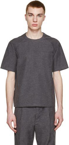Sunnei - Grey Woven Pocket T-Shirt