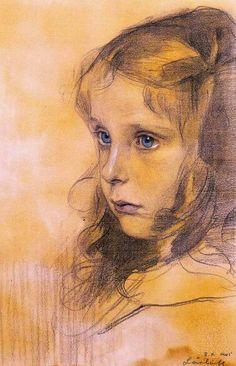 Miss Cassie Falls. Philip Alexius de László. 1905. Drawing. 34.9 cm x 23.5 cm.