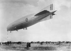 USS Shenandoah at her mooring mast in Tacoma, Washington State, USA. This US Navy rigid airship was built from 1922 to 1923, and operated until it crashed in 1925. Its 1924 flight from New Jersey to Washington State was the first sighting of a rigid airship for many in the USA.