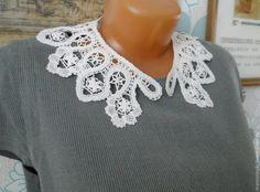 Купить Кружевной воротничок №1 - белый, орнамент, кружево, вологодское кружево, воротничок, аксессуар