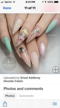 Cinderella Nails, Disney Nails, Nail Art Galleries, Gel Nail Polish, Nail Inspo, The Little Mermaid, Cute Nails, Nail Art Designs, Princess Disney