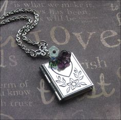 A personal favorite from my Etsy shop https://www.etsy.com/listing/250540033/locket-book-locket-heart-locket-necklace