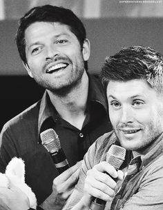 #JIBCon2014 Misha Collins and Jensen Ackles ~ Supernatural