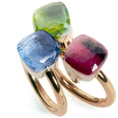 Beautiful gemstone and gold rings