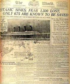 Titanic Anniversary: How Newspapers Covered The Ship Sinking In 1912
