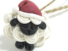 Santa Sheep Ornament