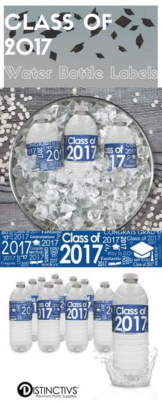 Dress Up Your High School or College Graduation Beverage Table And Add That Extra Touch To Your Blue Graduation Party Decorations and Supplies.