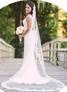 one tier with comb cut edge wide** white to ivory Made to order wedding veil wedding veil **72 in