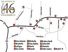 Paso Robles Winery Map Free   Paso Robles Wineries Highway 46 East Winery Map
