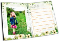 Stay organized this year by filling a day planner full of your gardening photos. Daily Planners can hold up to 54 pictures from your garden or landscaping. Insert date reminders for special occasions and events.