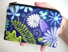 Blue Terrain Little Zipper pouch coin purse Gadget Case  NEW by JPATPURSES, $8.00