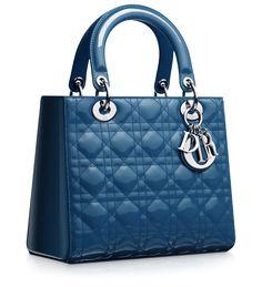9df8959c9220 Dior Cruise Blue Patent Lady Dior Bag Dior Handbags, Purses And Handbags,  Ladies Handbags