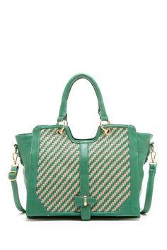 Segolene Paris Contrast Woven Zip Satchel by Handbags on @HauteLook