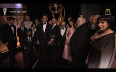 Game of Thrones cast & crew at the Emmys Thank You Cam