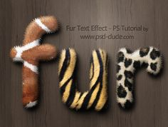 Create a Fur Text Style in Photoshop - Photoshop tutorial | PSDDude
