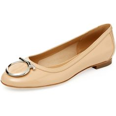 Salvatore Ferragamo Women's Ena Patent Leather Ballet Flat - Size 10 (€280) ❤ liked on Polyvore featuring shoes, flats, unknown, patent leather flats, patent ballet flats, salvatore ferragamo, salvatore ferragamo flats and patent leather shoes