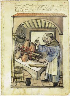 Illustration of a Cook, Wilhelm - From the House Books of the Nuremberg Twelve…
