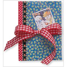"""Winter Holiday Accordian-Style Photo Album.  Mary Engelbreit's art on the cover, your """"art"""" on the inside."""