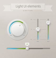 Light UI Controls - Free PSD