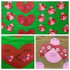Love Bug Math for Valentines: greater than or less than for Kindergarten