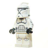 Custom Minifigur - Clone Trooper Phase 1, silber