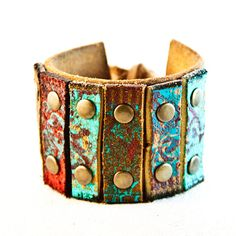 Items similar to Turquoise Jewelry Bracelet, Turquoise Cuff, Turquoise Wristband on Etsy Leather Cuffs, Leather Tooling, Leather Jewelry, Tooled Leather, Turquoise Cuff, Turquoise Jewelry, Turquoise Bracelet, Bible Study Crafts, Bohemian Jewelry
