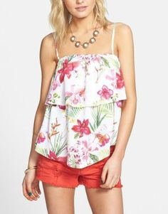 Summer Looks 2018 Ideas Picture Description Cute for frolicking on a spring day – tiered floral tank by Rip Curl Cute Spring Outfits, Cute Outfits, Look Magazine, Fashion Lookbook, Fashion Trends, Rip Curl, Sheer Dress, Dress To Impress, Fashion Dresses