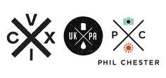 logo / emblème en forme de croix X
