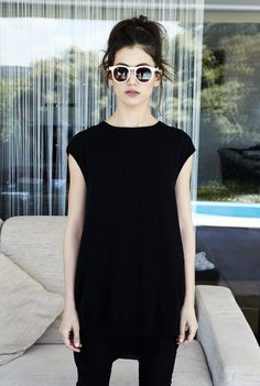 Ursula Corbero for Wolf Noir sunglasses (love this simple cool look)