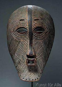 African School - Kifwebe Mask, Luba Culture, from Democratic Republic of Congo