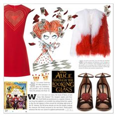 """Alice Through The Looking Glass: Hearts"" by leoll ❤ liked on Polyvore featuring Christopher Kane, Gucci, Saks Potts, contestentry and DisneyAlice"