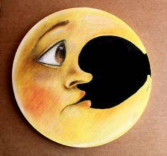 Luna perplessa di ilcaloredeicolori su Etsy